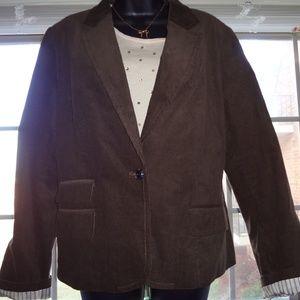 Women's American Eagle Brown Corduroy Blazer XL